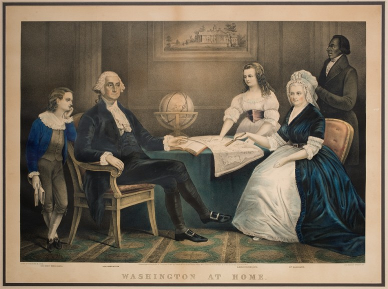 Washington at Home, Currier and Ives, 1867.