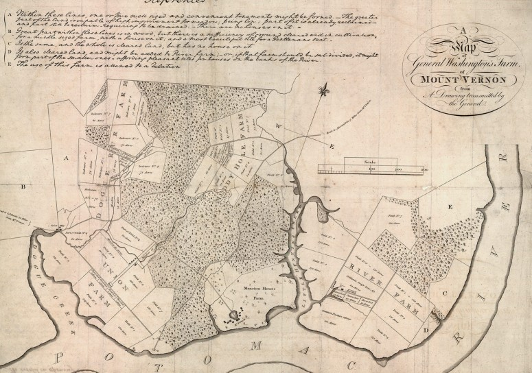 A Map of George Washington's Farms of Mount Vernon