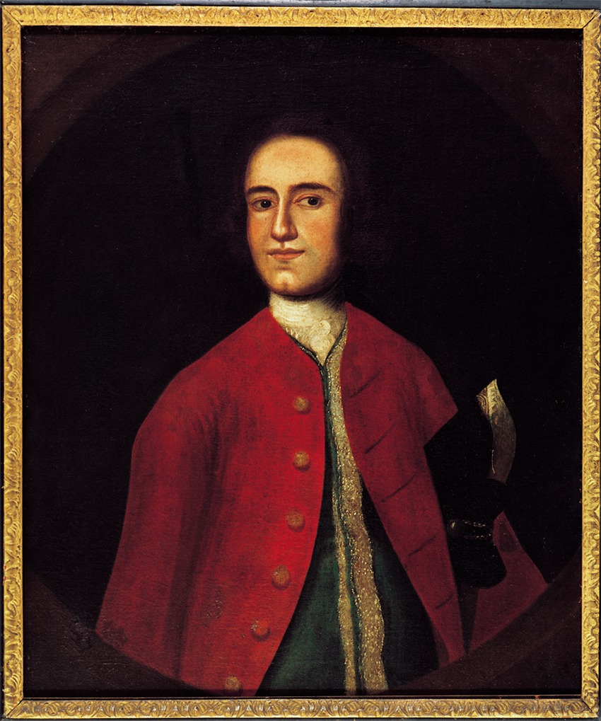 Lawrence Washington, attributed to Gustavus Hesselius, ca. 1738. MVLA