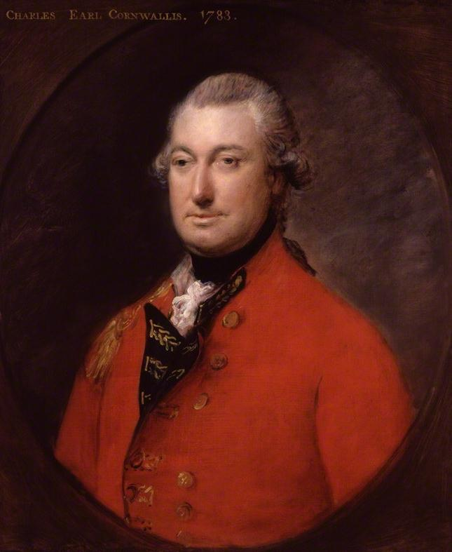 Major General Earl Charles Cornwallis (National Portrait Gallery, London)