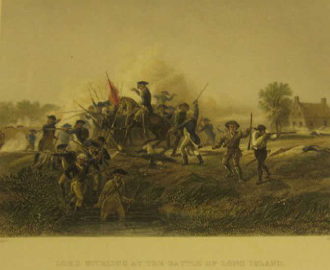 Lord Stirling at the Battle of Long Island, Virtue & Co. Publishers, 1859.