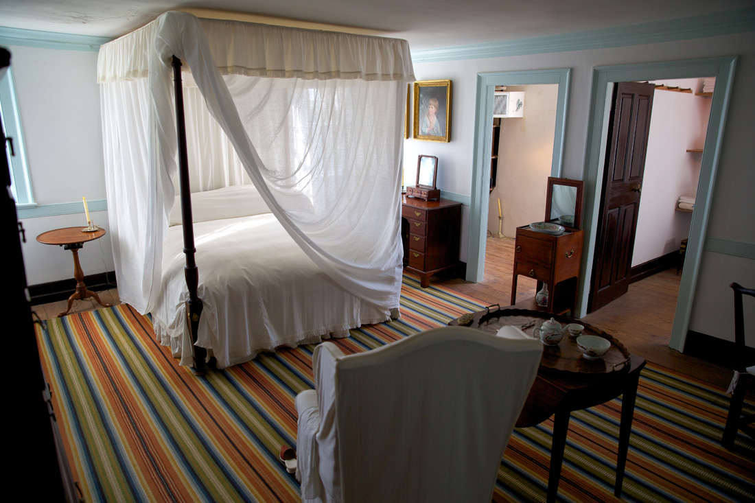 The Washington Bedroom within Mount Vernon. MVLA