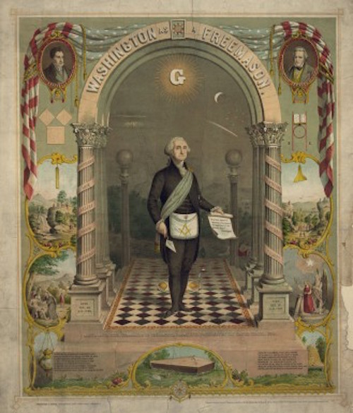 Washington as a Freemason / Strobridge & Gerlach lithographers, Pike's Opera House, Cincinnati, O.