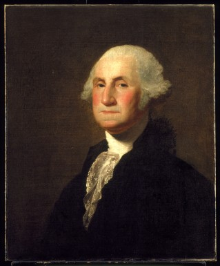 George Gilbert Stuart's circa 1798 portrait of George Washington. Take note of how Washington's jaw and mouth are more distended in this portrait. (Mount Vernon Ladies' Association)