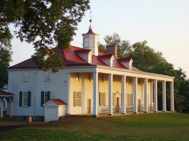 The river side of the Mount Vernon mansion showing its famous piazza (Rob Shenk)