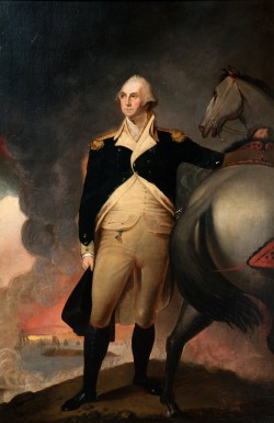 George Washington at Dorchester Heights by Jane Stuart, oil on canvas, M-5249, MVLA.