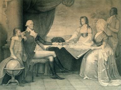 "Edward Savage's ""The Washington Family"", engraving after the original, c. 1789-1790 (Mount Vernon Ladies' Association)"