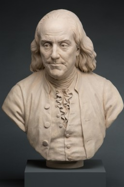 Bust of Benjamin Franklin in the Fred W. Smith National Library