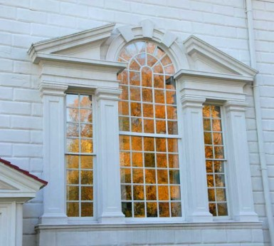 Palladian Window on main door house design