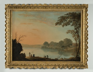 View of the North [Hudson] River (Evening), ca. 1793, by  William Winstanley. Purchase, 1940 [W-1180]. Photograph by Gavin Ashworth.
