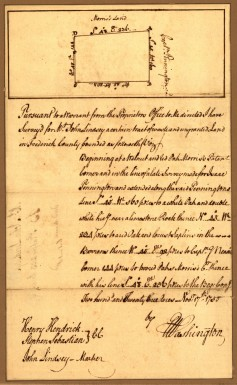 One of George Washington's surveys (Library of Congress)