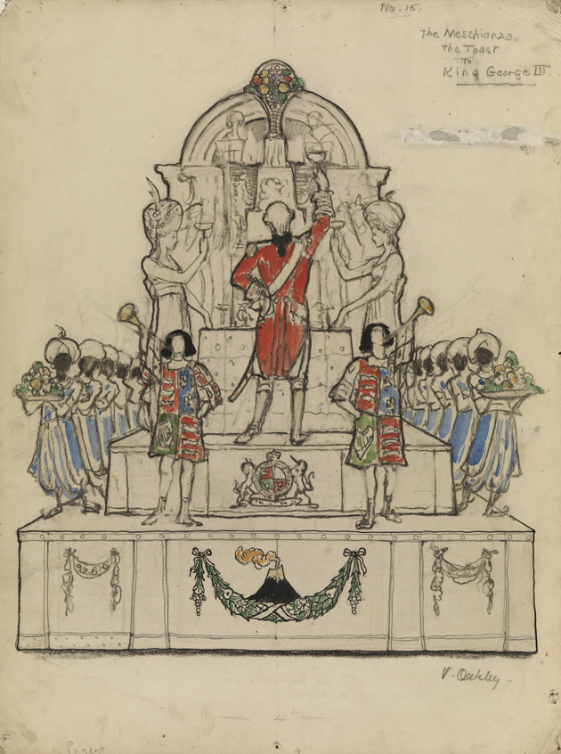 "Philadelphia Pageant, ""The Meschianza, a toast to King George III"", Courtesy Pennsylvania Academy of Fine Arts."