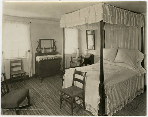 The Lafayette Room interpreted as the River Room, 1922. Image from Mount Vernon Digital Collections, photo identifier DA_001027