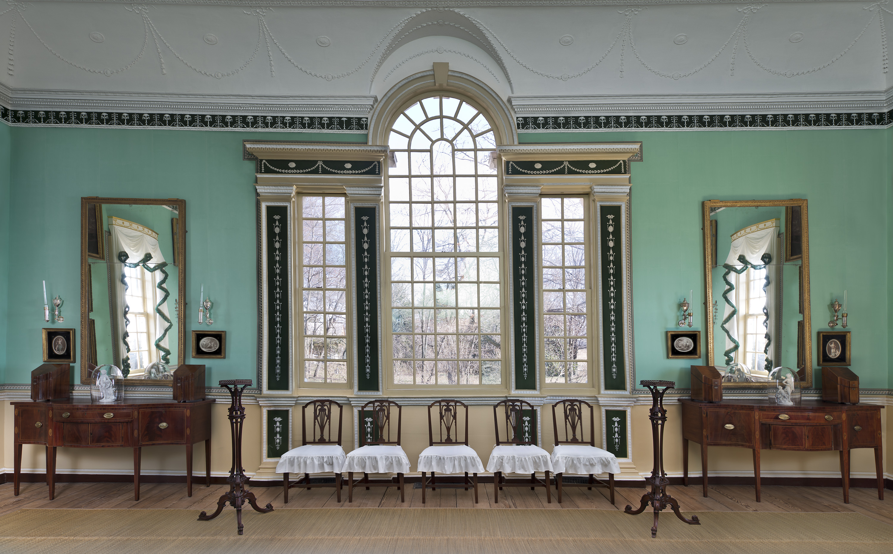 The Palladian Window at the center of the New Room