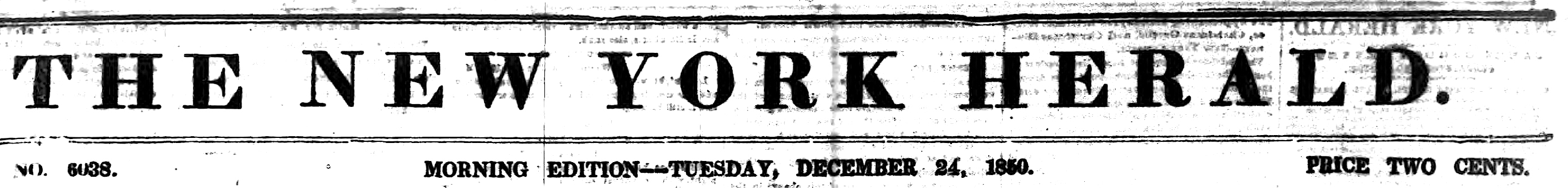 The New York Herald in 1850 (Wikimedia)