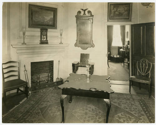 The Old Chamber, displaying some original Washington pieces, 1922, looking toward the west wall.