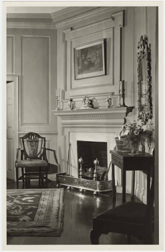 The Old Chamber furnished as a bedchamber, 1947.