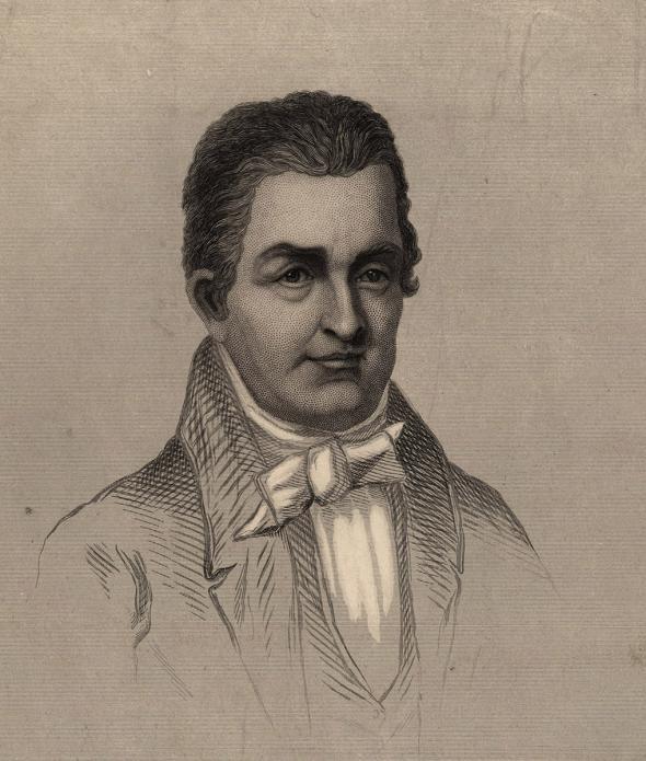 Engraved portrait of Oliver Evans (Wikimedia)