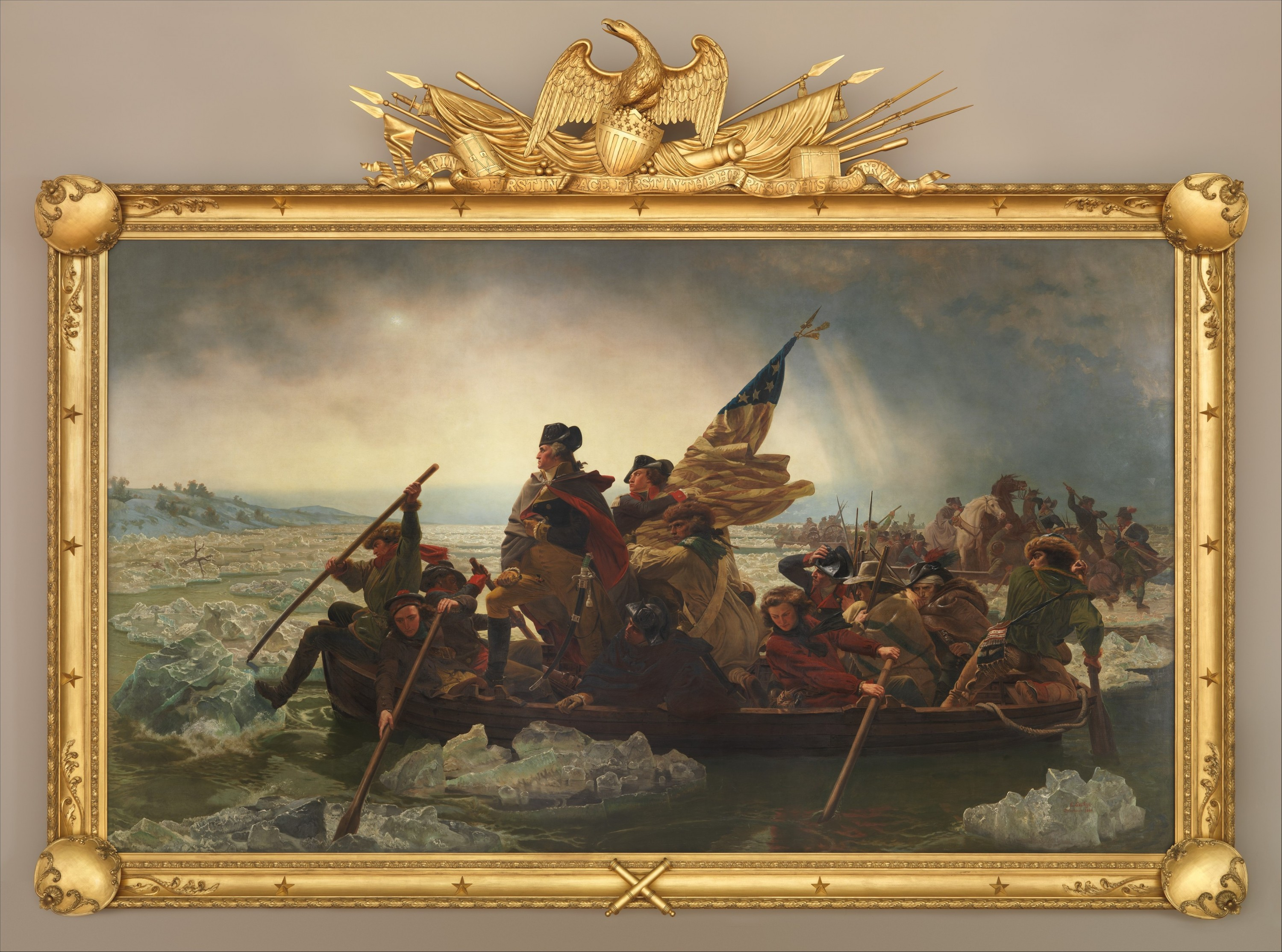 Washington's Crossing of the Delaware River, Emanuel Leutze, 1851. (Metropolitan Museum of Art)