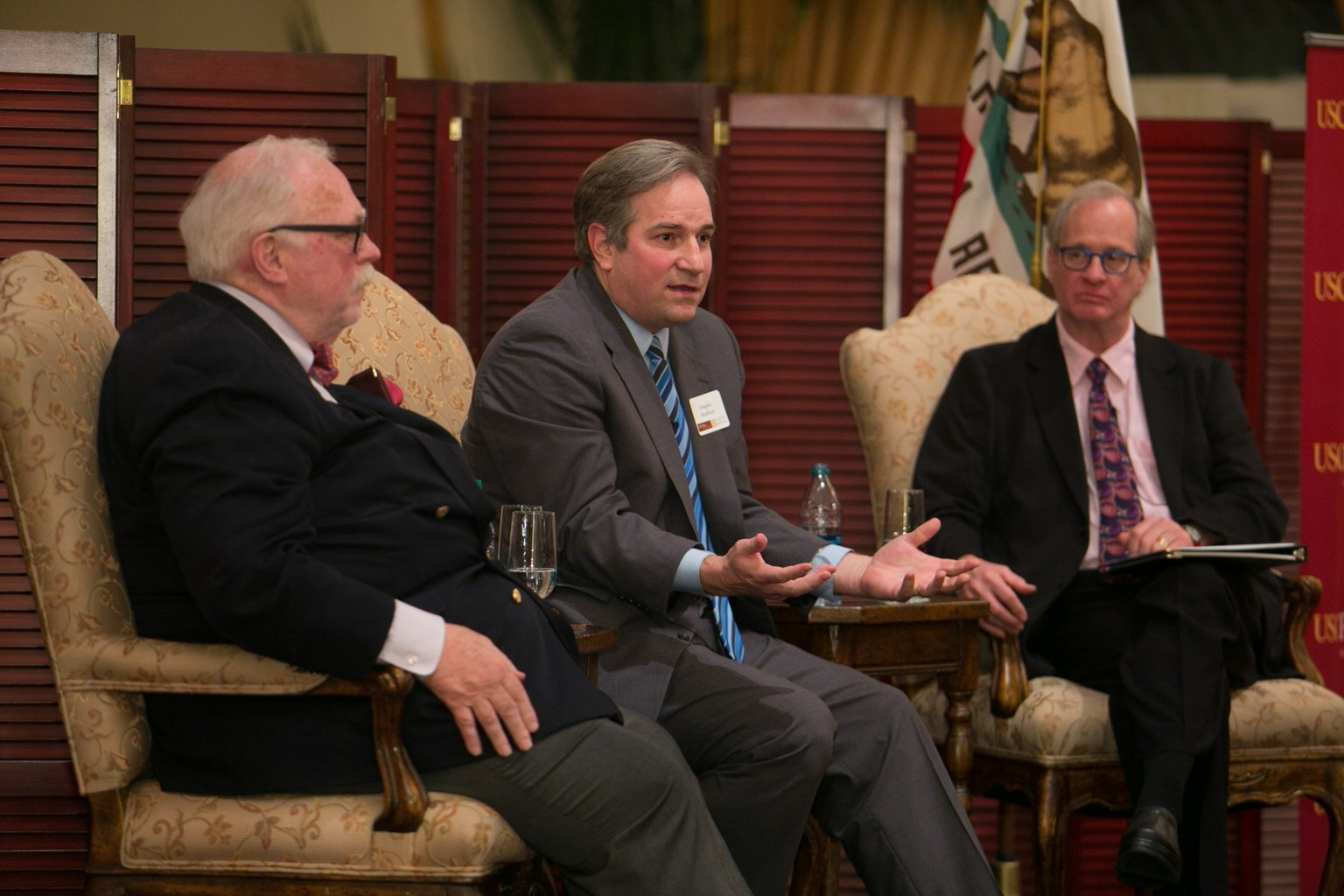 Host, Dr. Doug Bradburn (center)