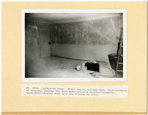 Restoration of the Lafayette Room, 1955. Image from Mount Vernon Digital Collections, photo identifierDA_000982_003