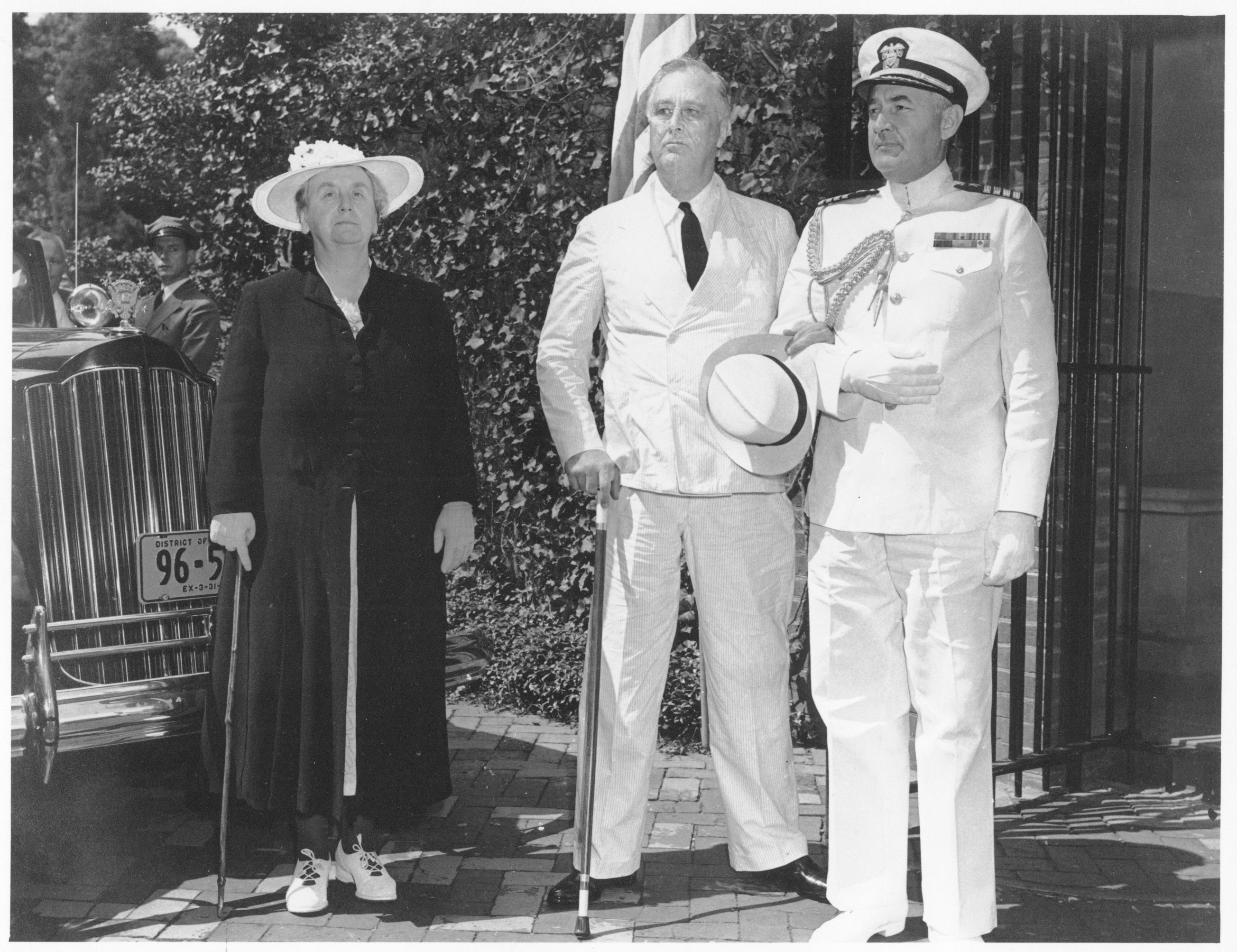 President Roosevelt with Queen Wilhelmina of the Netherlands, August 1942.