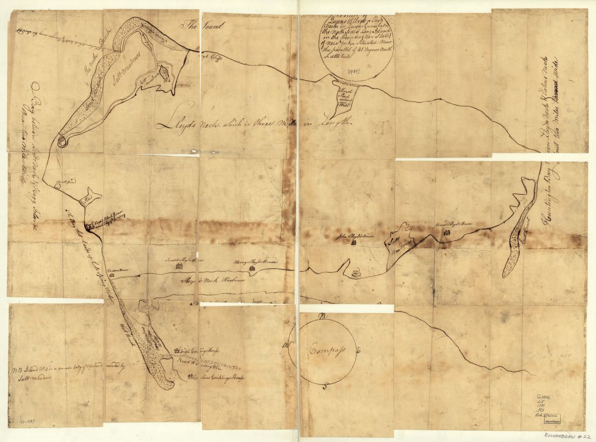 This map, contained in the Rochambeau Map Collection at the Library of Congress highlights Tallmadge's success in completing the reconnaissance mission George Washington assigned to him. - Map of Queens Village or Lloyd Neck. [1781] Courtesy Library of Congress, [G3802.L5 1781 .M3].