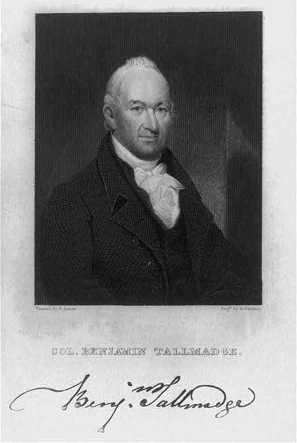 A later portrait of Benjamin Tallmadge, painted by Ezra Ames and engraved by G. Parker. Library of Congress control number 2005694627