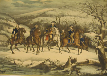 Washington and Staff at Valley Forge, Herline & Hensel, 1855.