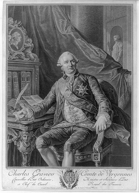 Comte de Vergennes, by Antoine-François Callet, engraved by Vincenzio Vangelisti, 1774. Library of Congress call number FP - XVIII - V253, no. 2.