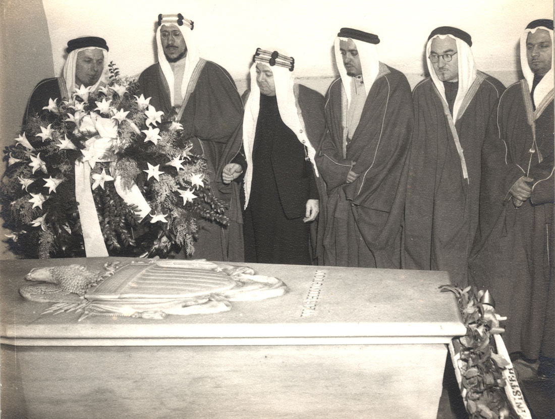 Saudi Crown Prince Amir Saud, January 14, 1947 (second from left) (Mount Vernon Ladies' Association)