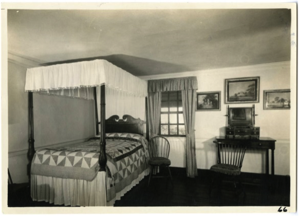 Yellow Room, 1933, looking towards the east wall. Courtesy of the Fred W. Smith Library.
