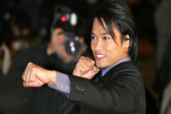 Thai actor Tony Jaa poses as he arrives