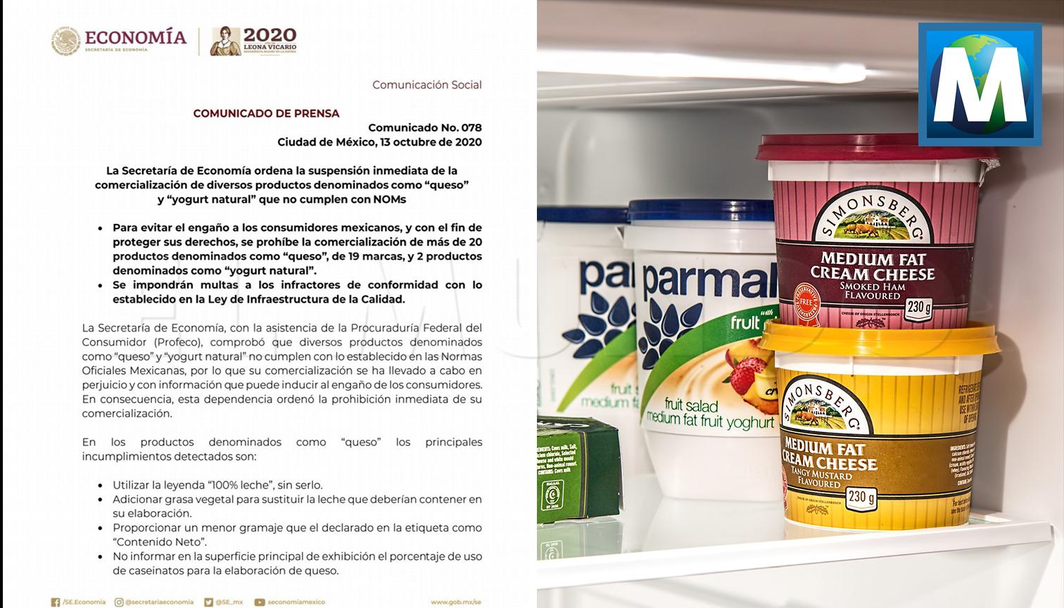 Prohíben a estas marcas vender quesos en México; incumplen las normas