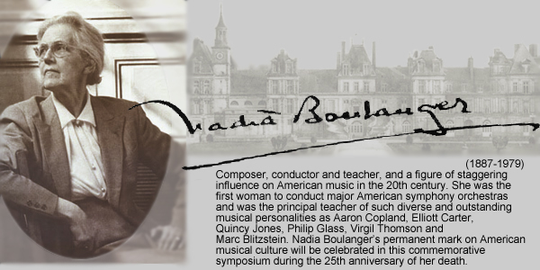 Nadia Boulanger as teacher