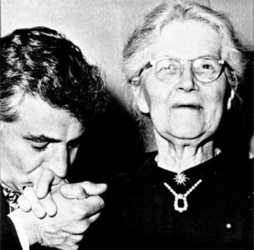 Nadia Boulanger with Bernstein