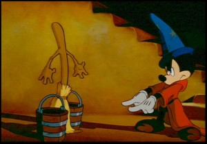 The Sorcerer's Apprentice - Three Centuries of Magic: Mickey casts a spell