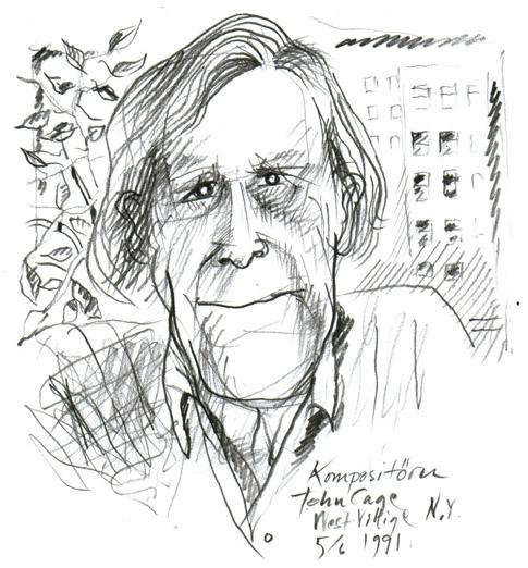 John Cage Caricature