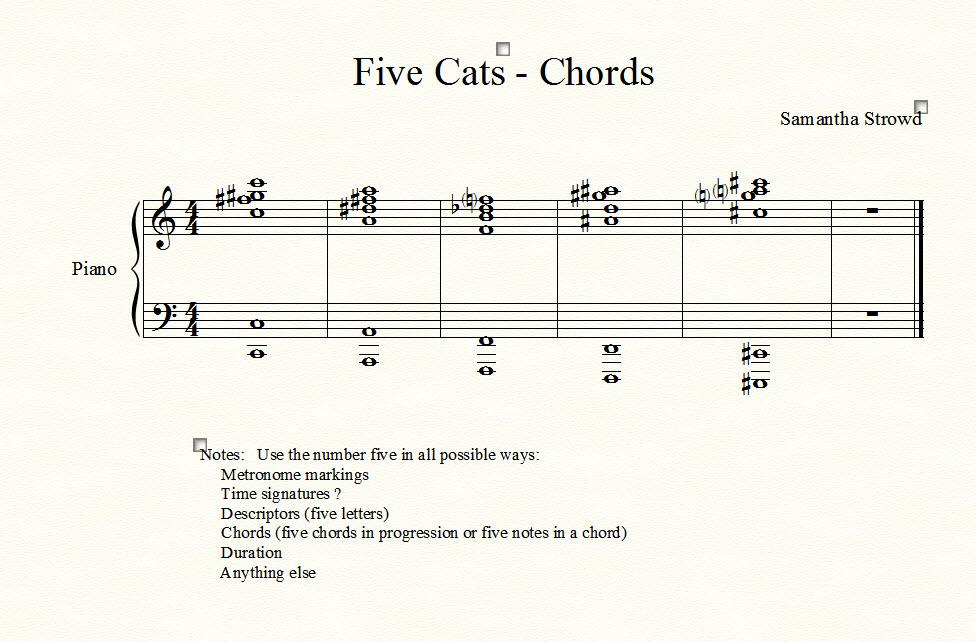 FiveCats Chords