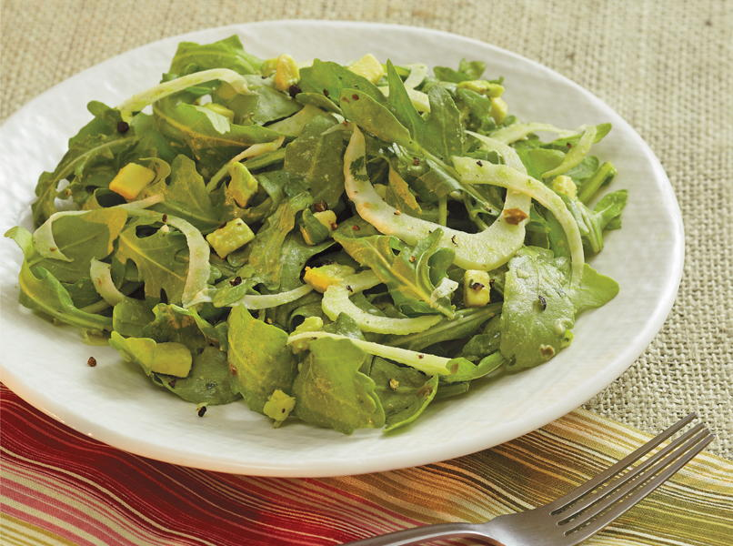 Fennel, Avocado, and Rocket Salad with Lemon-Caper Vinaigrette
