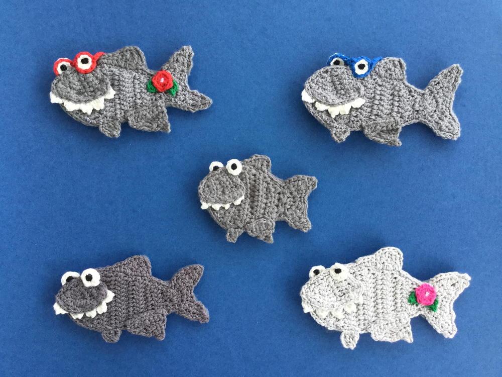 Crochet Shark Applique
