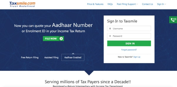 Top 5 Websites Filing Income Tax Returns (ITR) Online India
