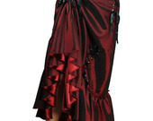 Burgundy_adjustable_steampunk_skirt3