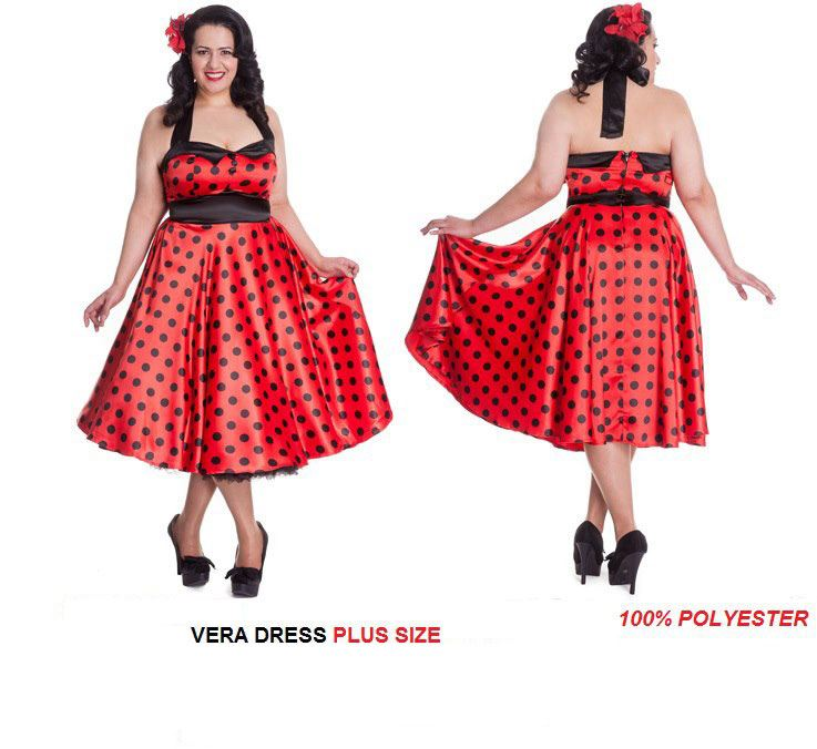Hell Bunny Vera Plus Size Dress Monkey Wrench Clothing