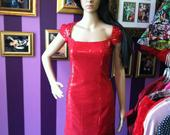 Red_faux_sequin_dress