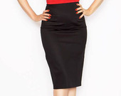 Regular-waist-black-pencil-skirt