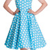 Hell Bunny Sky Blue Mariam Dress