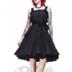 Black & White Gery 50's Dress