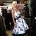 White Floral Swing Dress