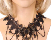 Lace-jewel-bead-and-chain-drop-choker1